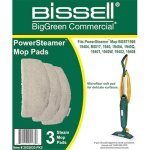 Bissell Commercial Microfiber Power Steamer Mop Pad (3 Pack) (2032633-PK3)