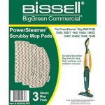 Bissell Commercial Microfiber Power Steamer Scrubby Mop Pad (3 Pack) (2032634-PK3)