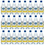 Crystal Geyser Sparkling Spring Water, 18 oz, Lemon, 24 Bottles (40003)