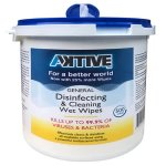Aktive Disinfecting Wet Wipes, Surface Sanitizing, 500 Wipes per Tub (AKTIVE500)