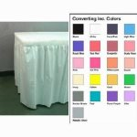 Converting Inc Emerald Green 14' Skirting - 29 High By 14' Long Plastic Emerald Green (6/1), 6/Case (FOR-0681)