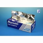 "Pactiv 12"" X 10-3/4"" Metro Interfolded Aluminum Foil - 6/500 Packed Sheets (6/500), 3000/Case (FOR-1080)"