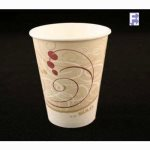 Solo 8 Oz. Paper Hot Cup - Symphony Design, 1000/Case (FOR-3009)