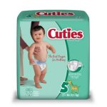 First QualityCuties® Diaper, Fun Graphics Print, Size 5, 108/CS (699155_CS)