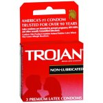 Church and DwightTrojan® Condom, Latex, One Size Fits Most, 3/BX (762029_BX)