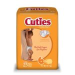 First QualityCuties® Diaper, Fun Graphics Print, Size 6, 23/PK (763396_PK)