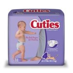 First QualityCuties® Diaper, Fun Graphics Print, Size 4, 31/PK (699154_PK)