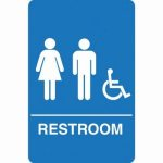 Palmer ADA Compliant Unisex Accessible Restroom Sign, Blue (PFO-IS1006-15)