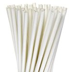 "General Supply 7.75"" Jum.White Paper Straw Unwrap 4/500 (FSPSTRAWU)"