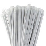 "General Supply 7.75"" Jum. White Paper Straw Wrap 4/500 (FSPSTRAWW)"