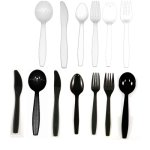 General Supply Spoon Hvy Wt Black-1000/Case (FSSPOONBLKHVY)