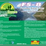 Green Scene FS-8 Foaming Hand Soap Refills, 1200 mL, 4 Refills (SIM-G13931200)