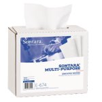 Sontara Multi-Purpose Smooth Wipers, 9 x 16.5 in, White, 8 Boxes (E6748BDL)