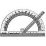 "Helix Swing Arm 6"" Protractor, Plastic, Assorted Colors, 10 per Box (HLX60009)"