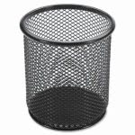 "Lorell Black Mesh/Wire Pencil Cup Holder, 3.5 x 3.9"", Each (LLR84149)"