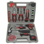 "Genuine Joe Tool Kit, Carbon Steel, 8""x7""x 7"", Gray, 42 Pieces (GJO11963)"