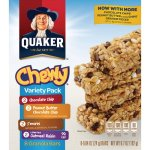 Quaker Oats Chewy Granola Bars, Variety Pack, 6.7oz., 8/BX, Assorted (QKR31188)