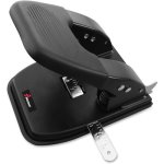 SKILCRAFT 2-Hole Paper Punch, Adjustable, 30 Sheet Cap, Black (NSN6203314)