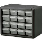 "Akro-Mils Storage Cabinet, 16 Drawers, 10.5""L x 8.5""H, Black (AKM10116)"