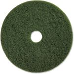 "Genuine Joe 20"" Scrubbing Floor Pad, Green, 5 Pads (GJO90320)"