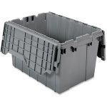 Akro-Mils Attached Lid Storage Container, 12 Gallons, Gray (AKM39120GREY)