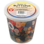 hygloss-bucket-o-buttons-assorted-colors-and-sizes-1-pound-hyx5516