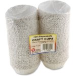 hygloss-disposable-craft-cups-white-water-resistant-100-cups-hyx36100