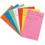 hygloss-library-cards-3x5-card-stock-assorted-colors-50-cards-hyx61437