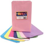 hygloss-pinch-bottom-bags-flat-6x9-28-pk-ast-hyx56289