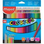 Maped Colored Pencils, Assorted Colors, 48 Pencils (HLX832048ZV)
