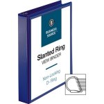 "Business Source Slant D-Ring 1-1/2"" View Binder, Navy (BSN28453)"