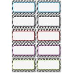 ashley-chevron-magnetic-nameplates-10-pk-black-white-ash10132
