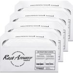 Impact Products Toilet Seat Covers, Half-folded, 4 Boxes, White (IMP25130873)
