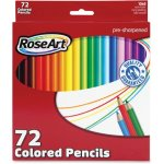 RoseArt Colored Pencils, Pre-sharpened, Assorted, 72 Pencils (RAICYM79)