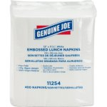 "Genuine Joe Embossed Lunch Napkins, 1-Ply, 13""x11.25"", 400 Napkins (GJO11254PK)"