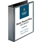 Business Source View Binder with 2 Inside Pockets, 4 Binders (BSN09956BD)