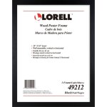 "Lorell Frame, Wood, Wall Display Only, 18""Wx24""H, Black (LLR49212)"