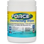 2XL FORCE2 Disinfecting Wipes, 6 x 6.75, Hospital Grade, 220/Canister (TXL407)