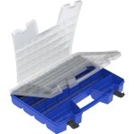 Akro-Mils Portable Organizer, Latching Closure, Multipurpose, Blue (AKM06118)