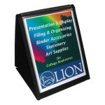 lion-display-book-vertical-easel-8-1-2x11-black-lio39009