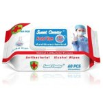 Sweet Carefor 75% Alcohol Wipes, Antibacterial, 60/Pack, 6 Packs (GUR1431CT)