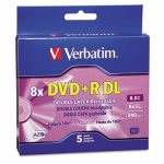 verbatim-dual-layer-dvdr-discs-85gb-wjewel-cases-5pack-silver-ver95311