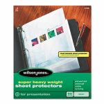 wilson-jones-super-heavy-weight-sheet-protector-clear-50box-wlj21400