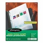 wilson-jones-super-heavy-weight-sheet-protector-non-glare-finish-clear-50box-wlj21401