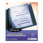 wilson-jones-economy-weight-sheet-protector-clear-100box-wlj21421