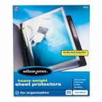 wilson-jones-heavy-weight-sheet-protector-non-glare-finish-50box-wlj21412