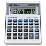 Victor 6500 Executive Desktop Loan 12-Digit LCD Calculator, Blk/Silver (VCT6500)