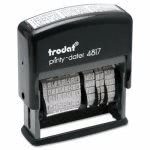 Trodat Economy 12-Message Stamp, Dater, Self-Inking, 2 x 3/8, Black (USSE4817)