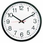 universal-round-wall-clock-11-12-in-black-unv10431