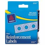 "Avery Hole Reinforcements, 1/4"" Diameter, Clear, 200/Pack (AVE05721)"